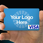 Custom design a card with your logo and branding
